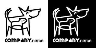 Hund und Katze lizenzfreie abbildung