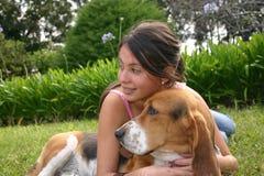 Hund und Lächeln Lizenzfreie Stockbilder