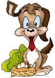 Hund und Schwamm stock abbildung