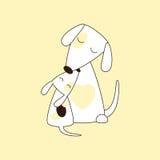 Hund und Welpe Stockfoto