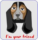Hund-vän illustration Royaltyfri Bild