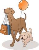 hundar två royaltyfri illustrationer