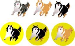 Hundcollie Vektor Illustrationer
