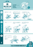 Hundcpr och första hjälpen royaltyfri illustrationer