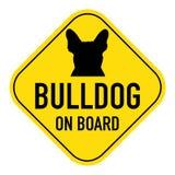 Hunde an Bord des Zeichens lizenzfreies stockfoto