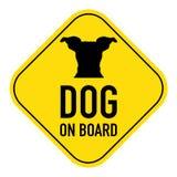Hunde an Bord des Zeichens stockbilder