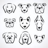 Hunde eingestellt Vektor lizenzfreie abbildung