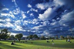 Hunde-Park in Vorstadt-Victoria Stockfotografie