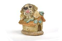 Hunde- und Hausabbildung Stockfoto