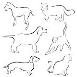 Hunde- und Katzeauslegungen stock abbildung