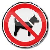 Hunde werden in diesem Bereich verboten stock abbildung