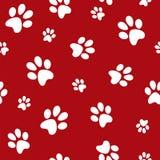 Hundeabdrücke Stockfotos
