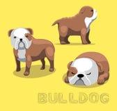 Hundebulldoggen-Karikatur-Vektor-Illustration Lizenzfreie Stockfotografie
