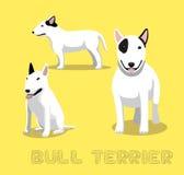 Hundebullterrier-Karikatur-Vektor-Illustration Lizenzfreie Stockfotos
