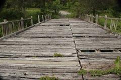 Hundeflecken USA - Brücke in den Ruinen Lizenzfreies Stockbild