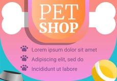 Hundegeschäft- für Haustierekonzeptfahne, Karikaturart stock abbildung