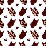 Hundegesichtsmuster lizenzfreie abbildung