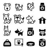Hundeikone Stockbilder
