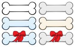 Hundeknochen-Karikatur-stellte einfaches Zeichnungs-Design 1 ein ansammlung lizenzfreie abbildung