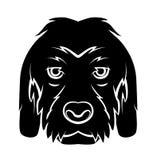 Hundekopf-Tätowierung lizenzfreie abbildung