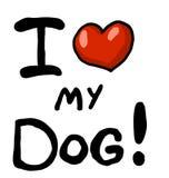 hunden älskar jag mitt stock illustrationer