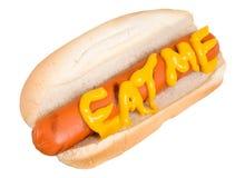 hunden äter varmt mig säger Royaltyfri Foto