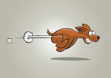 hunden fast stock illustrationer