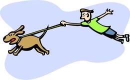 hunden går royaltyfri illustrationer