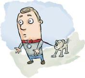 Hunden går mannen Royaltyfria Foton