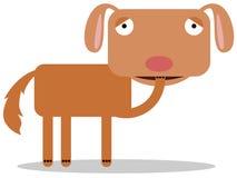 Hunden spikar tuggor Arkivfoto