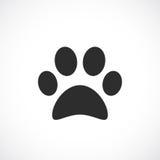 Hunden tafsar vektorsymbolen royaltyfri illustrationer