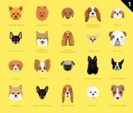 Hunden vänder mot symbolstecknade filmen Royaltyfri Bild