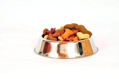 Hundenahrungsmittelhaustierschüssel Lizenzfreie Stockbilder