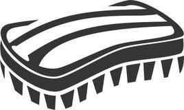 Hundepferdebräutigam-Bristle Brush Lufa-Wäscher-Reinigungs-Zusatz vektor abbildung