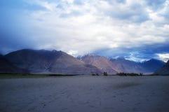 Hunder Sand Dunes of Nubra Valley Royalty Free Stock Image