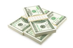 Hundered Dollar Bill 3d Render On White With Clipping Path. Hundered Dollar Bill Bill 3d Render On White With Clipping Path. running up a bill of Twenty of vector illustration