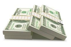 Hundered Dollar Bill 3d Render On White With Clipping Path. Hundered Dollar Bill Bill 3d Render On White With Clipping Path. running up a bill of Twenty of stock illustration