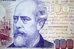 Hundert argentino Pesoargentiniens Julio roca Lizenzfreie Stockfotografie