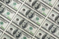 Hundert Dollar Banknoten Stockfotografie