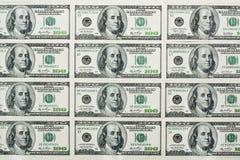 Hundert Dollar Banknoten Lizenzfreie Stockfotos