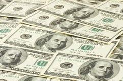 Hundert Dollar Banknoten Stockfoto