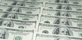 Hundert Dollar Geld- Stockbild