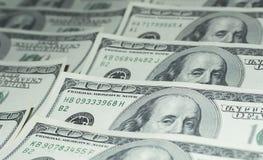 Hundert Dollar Geld- Lizenzfreies Stockbild