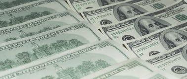 Hundert Dollar Geld- Stockbilder