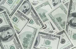 Hundert Dollar Geld- Lizenzfreie Stockfotos