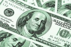 Hundert Dollar Makro Lizenzfreies Stockbild