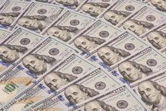 Hundert Dollar Stapel Lizenzfreies Stockfoto