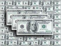 Hundert Dollaranmerkungen Stockfotos