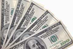 Hundert Dollarbanknoten Lizenzfreie Stockbilder
