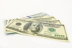 Hundert Dollarbanknoten Stockfoto